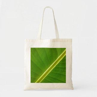 Leaf of banana tree canvas bag