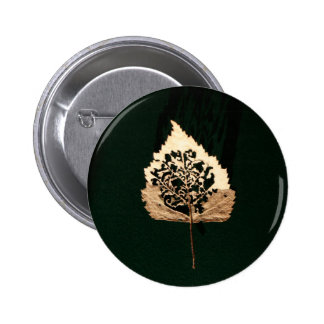 Leaf of Gold Button