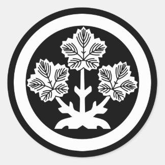 Leaf of Suwa rudder Classic Round Sticker