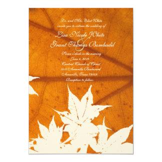 """Leaf on Leaf Wedding Invitations 5"""" X 7"""" Invitation Card"""