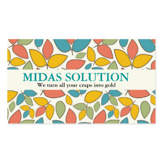Leaf Pattern Colorful and Striking Business Card