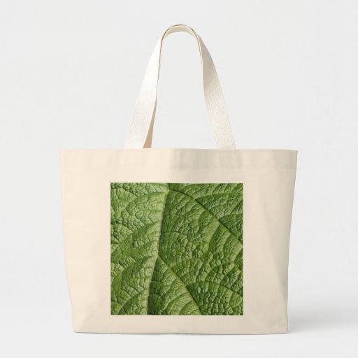 Leaf Pattern Design. Canvas Bags