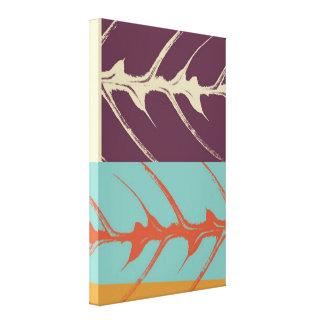 Leaf Pop Art 2 Stretched Canvas Print
