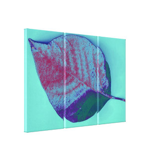 Leaf Pop Art 3 Gallery Wrapped Canvas
