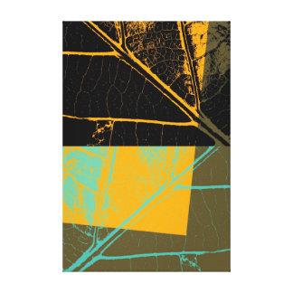 Leaf Pop Art Stretched Canvas Print