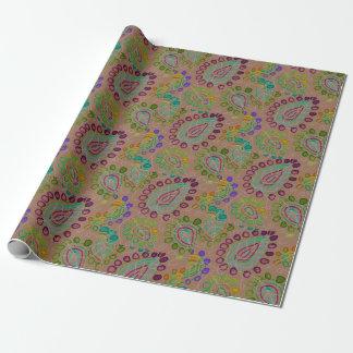 Leaf Print Batik Wrapping Paper