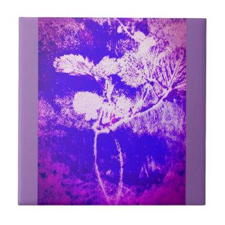 leaf print tile