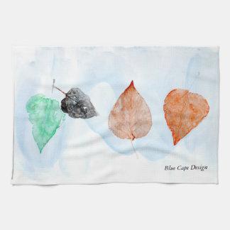 Leaf Print Towels