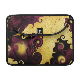 Leaf Purple and Gold Abstract MacBook Pro Case
