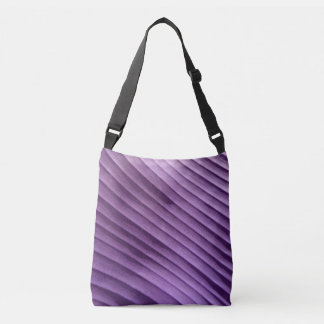 Leaf Purple Diagonal Tote Bag
