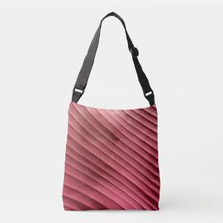 Leaf Red Diagonal Tote Bag