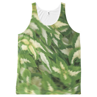 Leaf Revolving All-Over Print Tank Top
