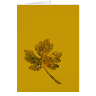Leaf Simple No 3 Greeting Card Greeting Cards