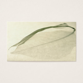 leaf skeleton business card