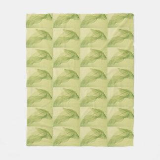 Leaf skeleton shadows fleece blanket