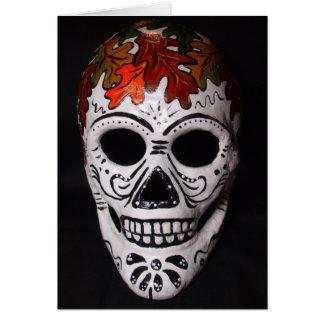 Leaf Skull Mask Card