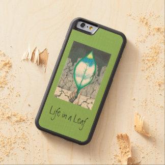 ...Leaf (slim) Carved Maple iPhone 6 Bumper Case