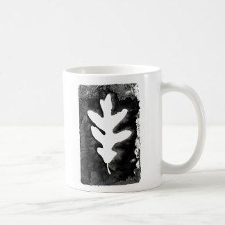 Leaf Stamp (Black) Mug