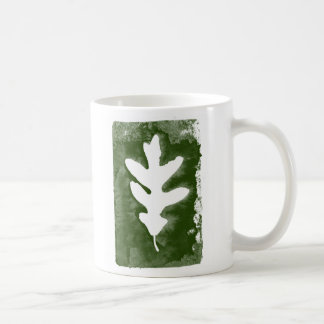 Leaf Stamp (Green) Basic White Mug