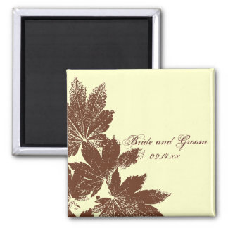 Leaf Stamp Wedding Magnet