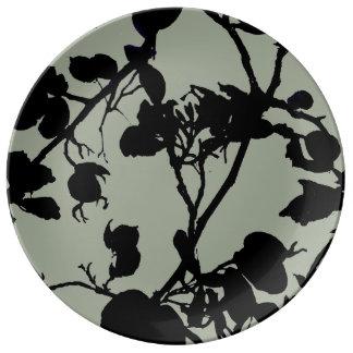 Leaf Trail Silhouette Porcelain Plate