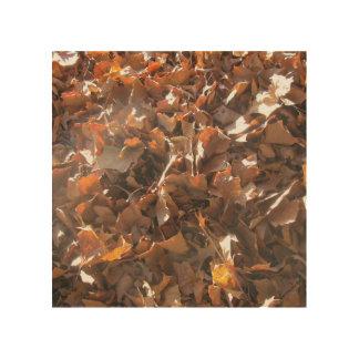 Leaf wood art