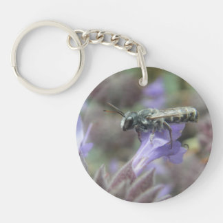 Leafcutter Bee Keychain