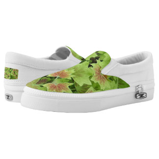 Leafs Custom Zipz Slip On Shoes,  Men & Women Printed Shoes