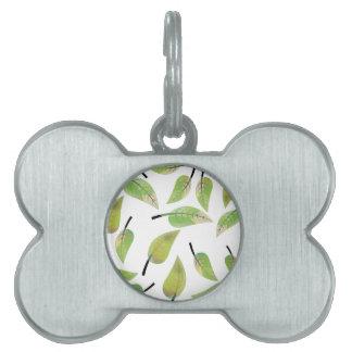 leafs fresh design pet tag