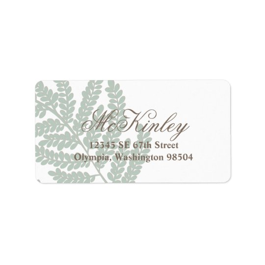 Leafy Branch Return Address Label