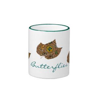 Leafy Butterflies Mug