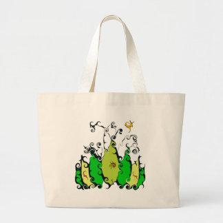 Leafy Design Jumbo Tote Bag