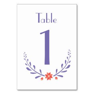 Leafy Flower Table Card