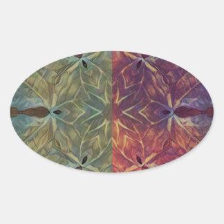 Leafy Gal Oval Sticker