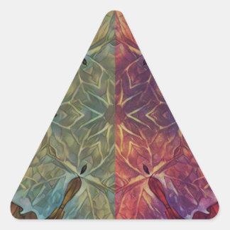 Leafy Gal Triangle Sticker