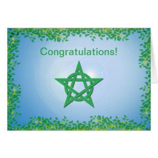 Leafy Glade Wiccan Wedding Congratulations Card