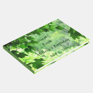 Leafy Green Birthday Party Guest Book