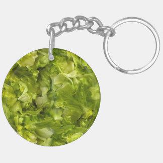 Leafy Green Salad Lettuce Key Ring