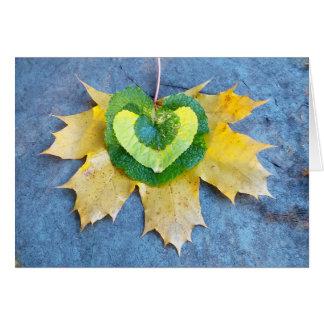 Leafy Heart Card