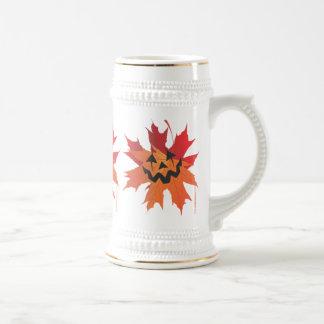 Leafy Jack Octoberfest Stein Coffee Mugs