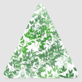 Leafy Pattern Design Triangle Sticker