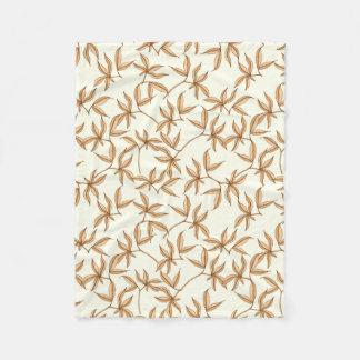 Leafy Pattern Fleece Blanket