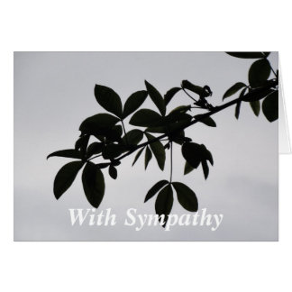 Leafy Silhouette Greeting Card