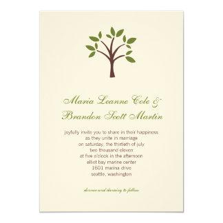 Leafy Tree Wedding Invitation
