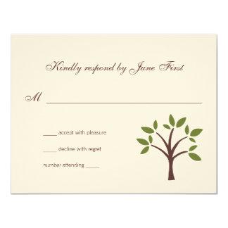 Leafy Tree Wedding Response Card