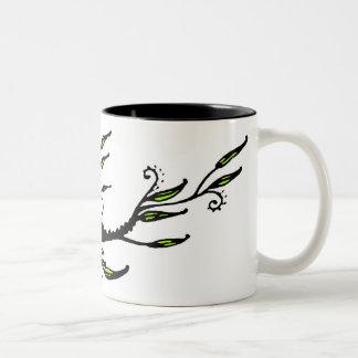 Leafy Two-Tone Coffee Mug