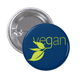 Leafy Vegan Button