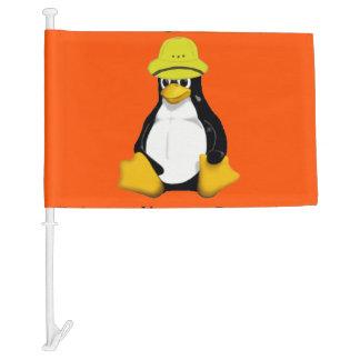 League of Extraordinary Penguins 2 Car Flag