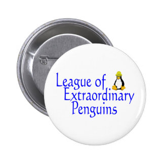 League of Extraordinary Penguins 4 6 Cm Round Badge