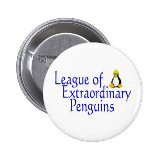 League of Extraordinary Penguins 4 6 Cm Round Badge
